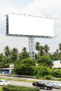 Blank outdoor billboard with blue sky Stock Images
