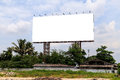 Blank outdoor billboard with blue sky Royalty Free Stock Images
