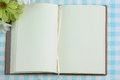 Blank page of note book and flower Royalty Free Stock Photo