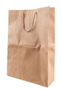 Blank paper bag brown isolated Stock Images