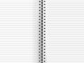 Blank paper binder Royalty Free Stock Photo