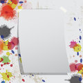 Blank paper on grunge wall Royalty Free Stock Photo