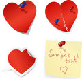 Blank Paper Love Notes. Royalty Free Stock Photos