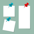 Blank paper note with push pin Royalty Free Stock Photo