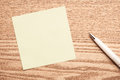 Blank Paper Note on Tablet with Pen. Business Plan Concept Royalty Free Stock Photo