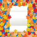 Blank paper over cartoon floral background abstract art Stock Images
