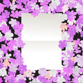 Blank paper over floral background abstract art Stock Photo