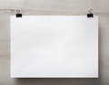 Blank paper poster Royalty Free Stock Photo