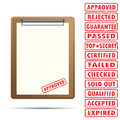 Blank paper with rubber stamp Royalty Free Stock Photo