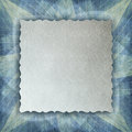 Blank paper sheet on patterned background abstract Stock Photography