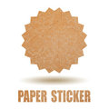 Blank paper sticker Stock Photo