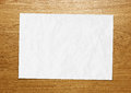 Blank paper texture wood piece of on a wooden surface Royalty Free Stock Photos