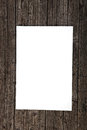 Blank paper on weathered wood Stock Photo