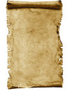 Blank parchment scroll Stock Photo