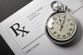 Blank patient list and stopwatch on black Royalty Free Stock Images