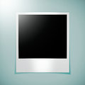 Blank photo frame on green stock image Royalty Free Stock Image
