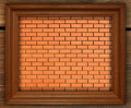 Blank photo frame on old brick wall Royalty Free Stock Photo