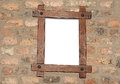 Blank photo frame on old wall Stock Photos