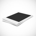 Blank photo frame in perspective on white background Royalty Free Stock Photo