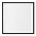 Blank photo frame square black design elemet for your brochure or web ads put your own image inside Royalty Free Stock Photos