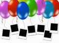 Blank photo frames, kids party Royalty Free Stock Photo