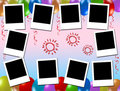 Blank photo frames, kids party Stock Images