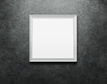 Blank picture frame at the wall Royalty Free Stock Images