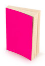 Blank pink book cover-clipping path Royalty Free Stock Photo