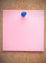 Blank pink sticker Royalty Free Stock Image