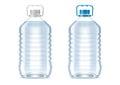 Blank plastic bottles