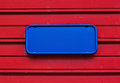 Blank plate blue on red abstract background Stock Photography