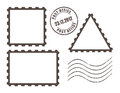 Blank post stamps vector illustration Stock Images