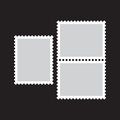 Blank postage stamp flat Icon on black background