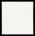 Blank postage stamp isolated on black background Royalty Free Stock Images
