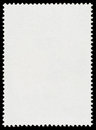 Blank postage stamp isolated on black background Stock Photography