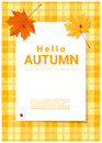 Blank poster on autumn theme background