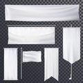 Blank poster or banner hanging frame template