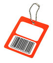 Blank price tag with fake bar code Stock Photos