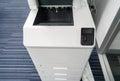 Blank printer output tray Royalty Free Stock Photo