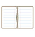 Blank Realistic Open Notebook With Lines On White Backg