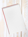 Blank realistic spiral Notepad
