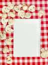 Blank recipes book Stock Images