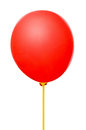 Blank red balloon with stick Stock Images