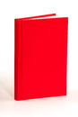 Blank red book - clipping path Royalty Free Stock Photo