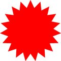 Blank red sticker for sale label