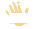 Blank Remember Concept Finger Ribbon Royalty Free Stock Photos