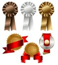 Blank ribbon and seal set Stock Image