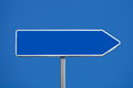 Blank road sign Royalty Free Stock Photo