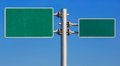 Blank road sign board Royalty Free Stock Photo