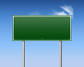 Blank road sign editable with sky in the background Stock Photo